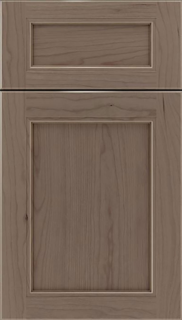 Templeton 5pc Cherry recessed panel cabinet door in Winter