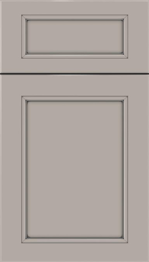 Templeton 5pc Maple recessed panel cabinet door in Nimbus with Pewter glaze