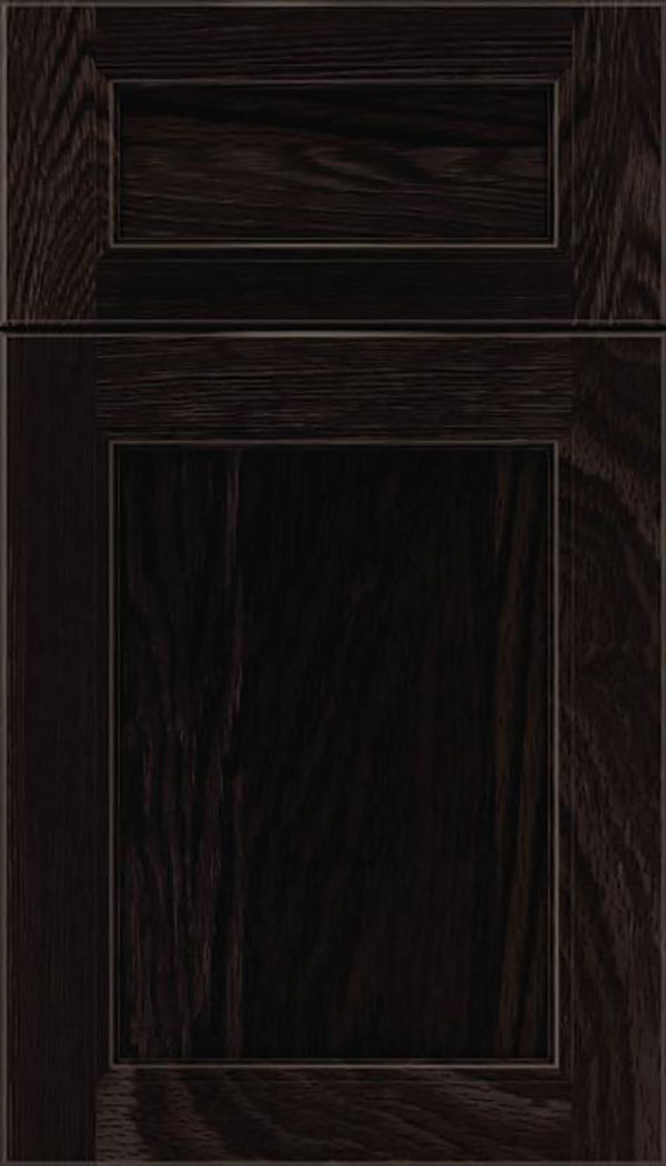 Templeton 5pc Oak recessed panel cabinet door in Charcoal