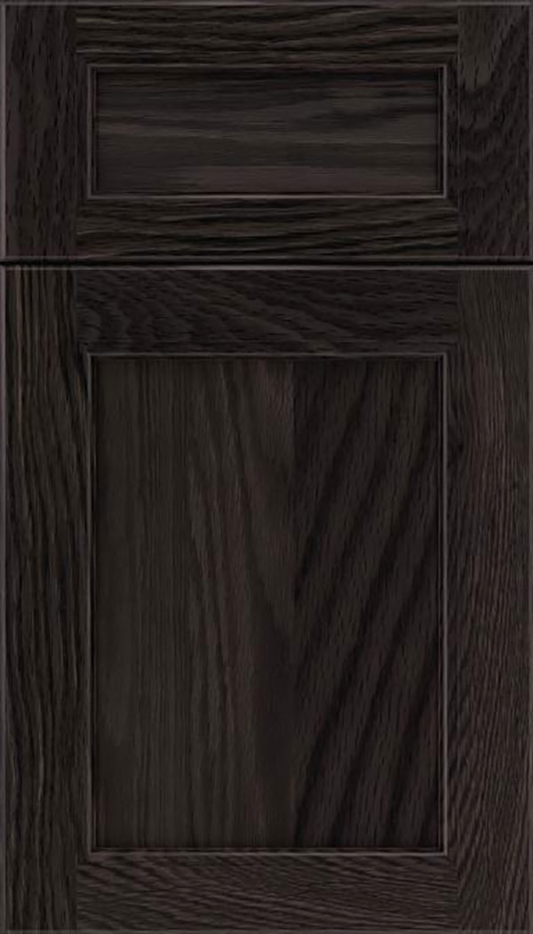 Templeton 5pc Oak recessed panel cabinet door in Espresso