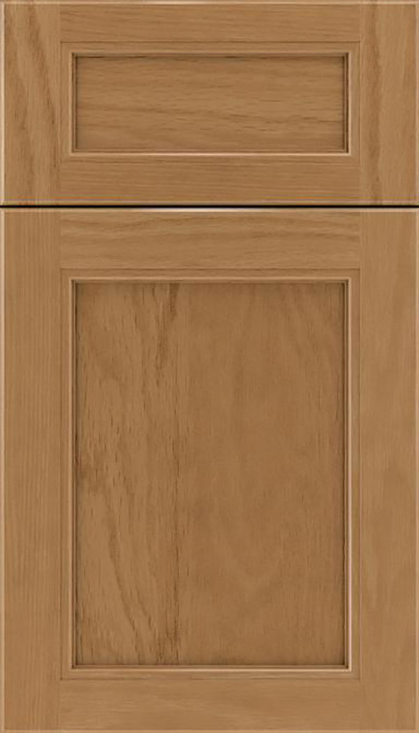 Templeton 5pc Oak recessed panel cabinet door in Tuscan