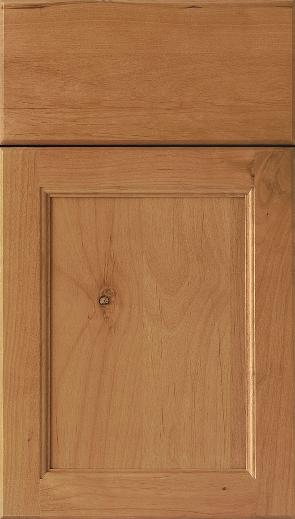 Templeton Alder recessed panel cabinet door in Ginger