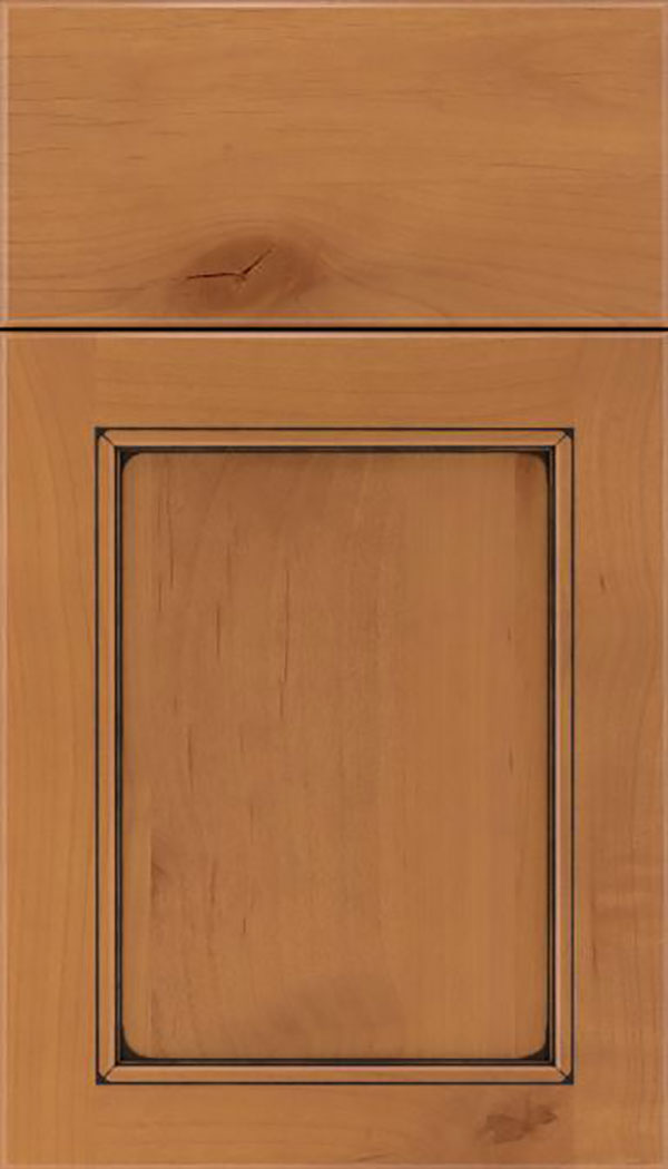 Templeton Alder recessed panel cabinet door in Ginger with Mocha glaze