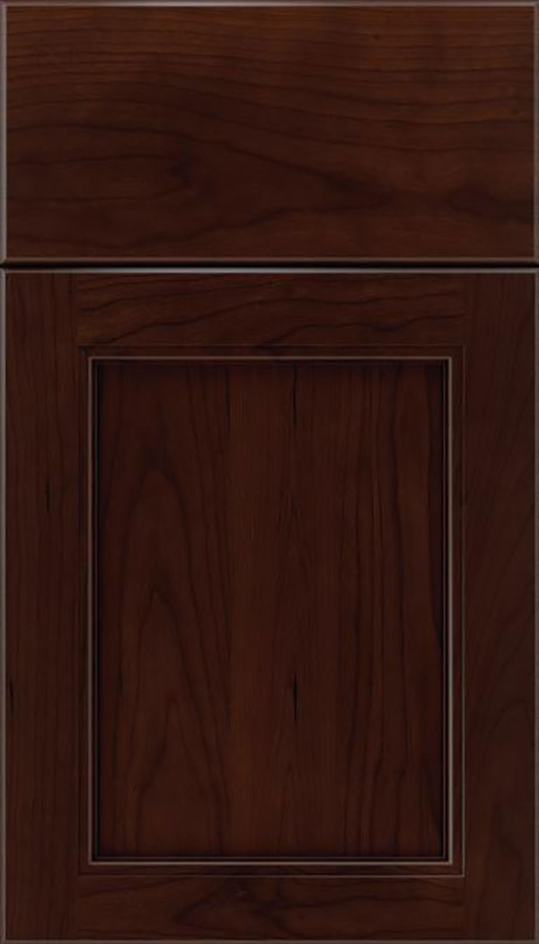 Templeton Cherry recessed panel cabinet door in Cappuccino