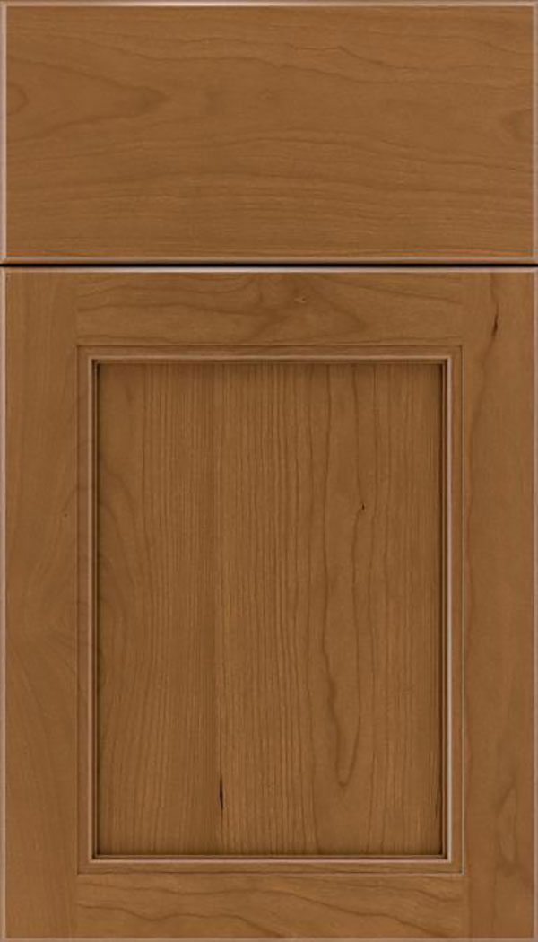 Templeton Cherry recessed panel cabinet door in Tuscan