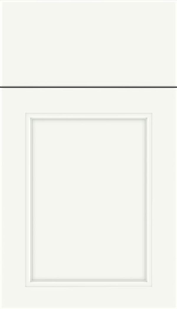 Templeton Maple recessed panel cabinet door in Alabaster