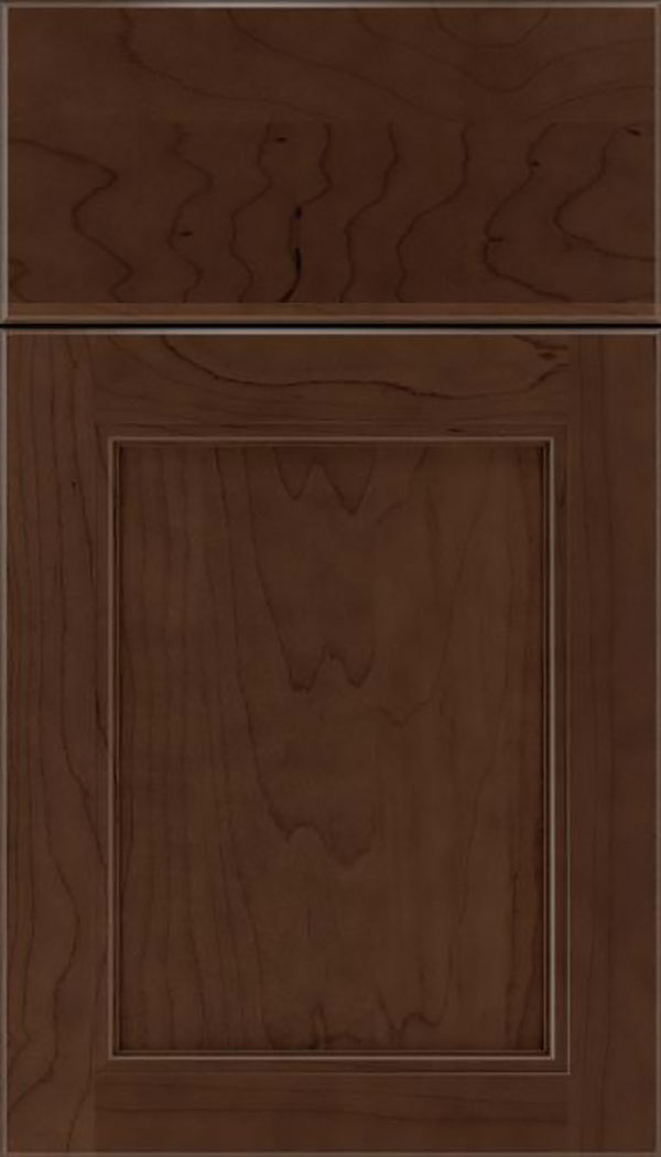Templeton Maple recessed panel cabinet door in Cappuccino