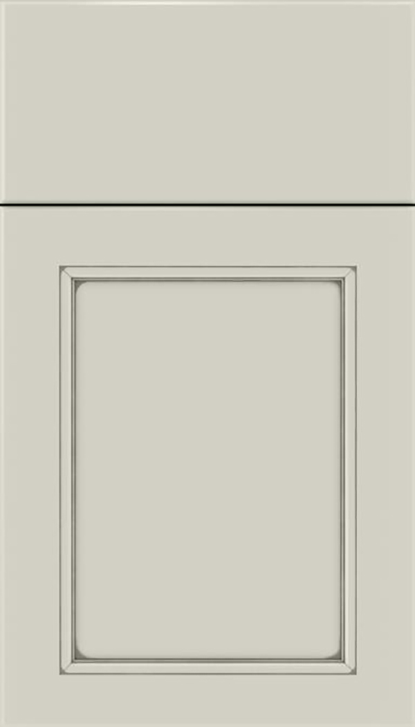 Templeton Maple recessed panel cabinet door in Cirrus with Pewter glaze