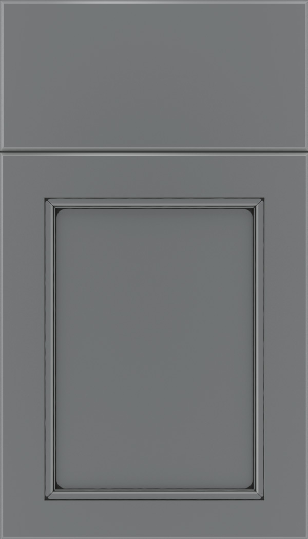 Templeton Maple recessed panel cabinet door in Cloudburst with Black glaze