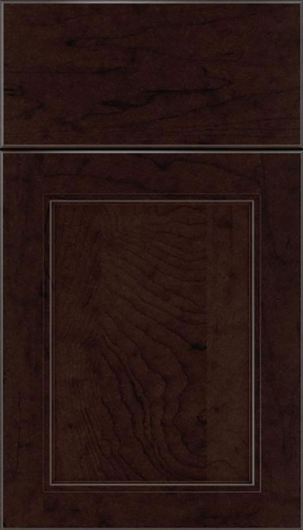 Templeton Maple recessed panel cabinet door in Espresso