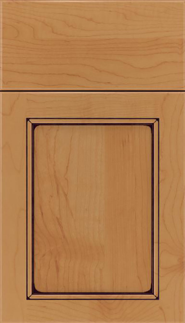 Templeton Maple recessed panel cabinet door in Ginger with Mocha glaze