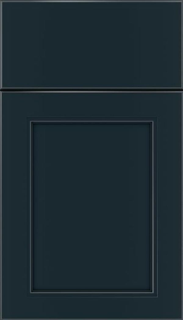 Templeton Maple recessed panel cabinet door in Gunmetal Blue