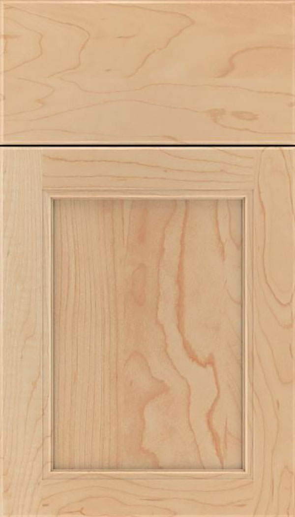 Templeton Maple recessed panel cabinet door in Natural