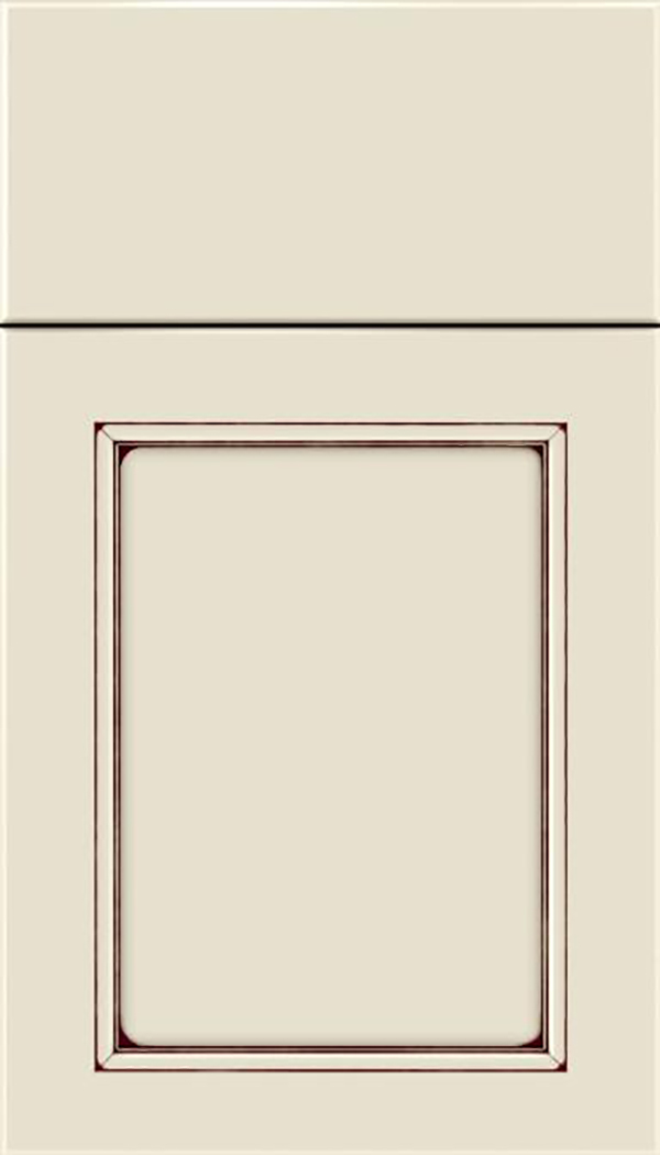 Templeton Maple recessed panel cabinet door in Seasell with Mocha glaze
