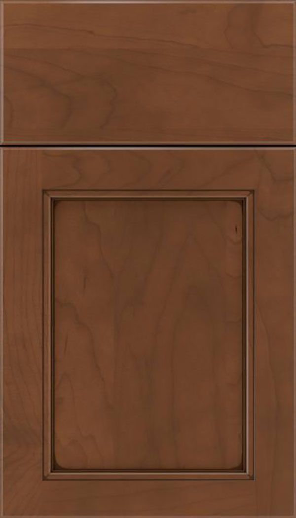 Templeton Maple recessed panel cabinet door in Sienna with Mocha glaze