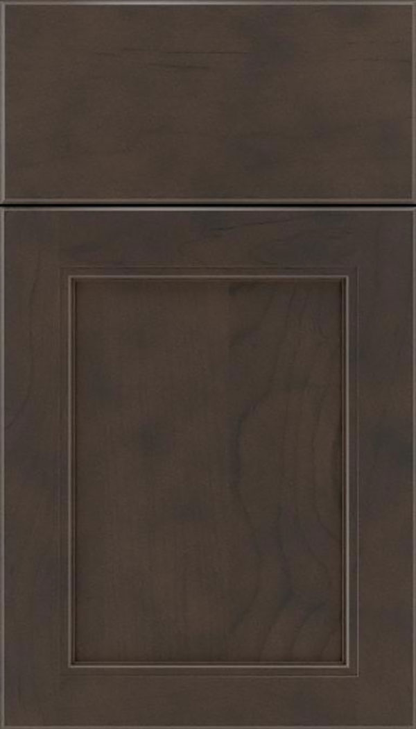 Templeton Maple recessed panel cabinet door in Thunder