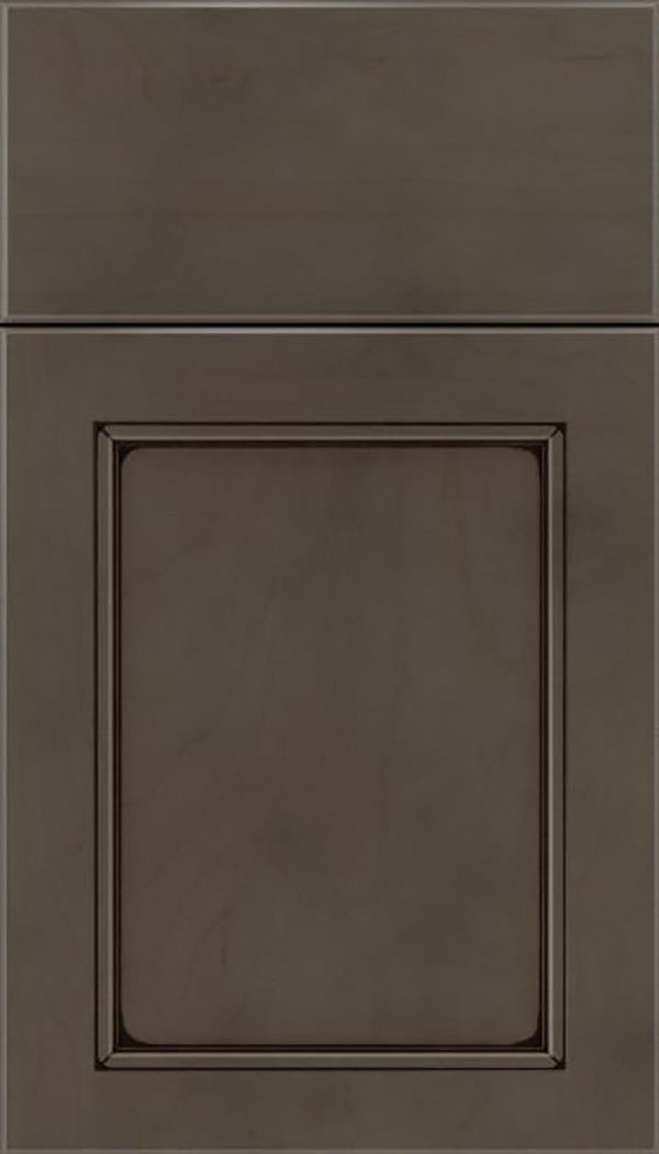 Templeton Maple recessed panel cabinet door in Thunder with Black glaze