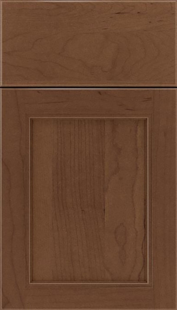 Templeton Maple recessed panel cabinet door in Toffee