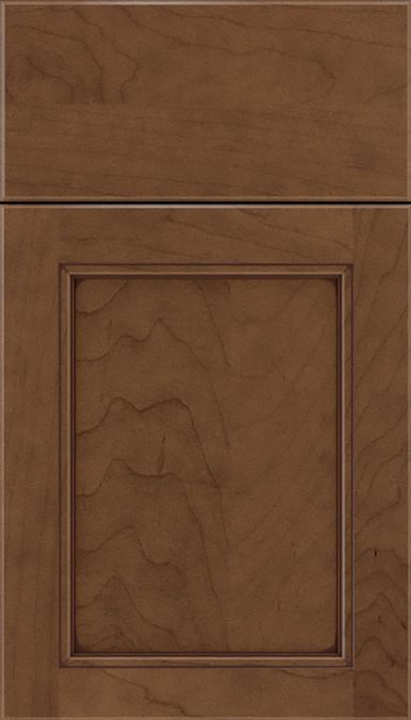 Templeton Maple recessed panel cabinet door in Toffee with Mocha glaze