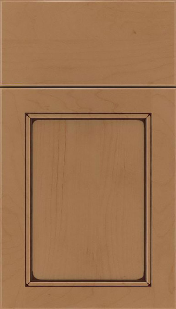 Templeton Maple recessed panel cabinet door in Tuscan with Mocha glaze