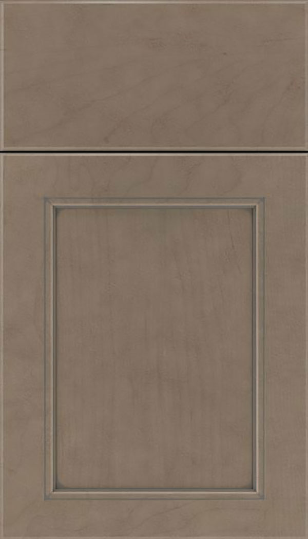 Templeton Maple recessed panel cabinet door in Winter with Pewter glaze