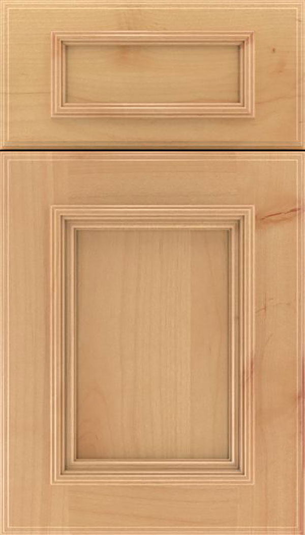 Wellington 5pc Alder flat panel cabinet door in Natural