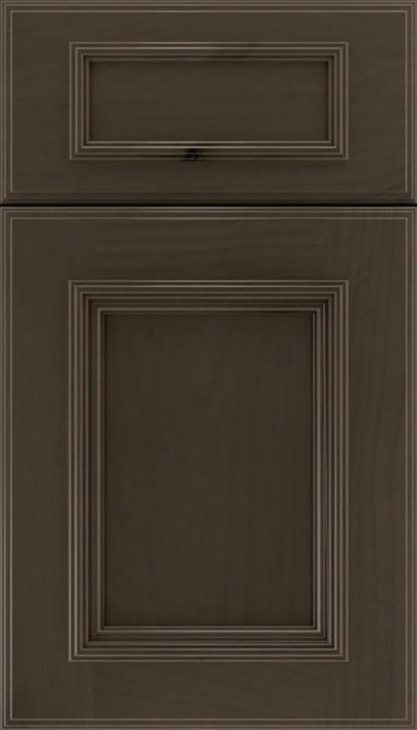 Wellington 5pc Alder flat panel cabinet door in Thunder