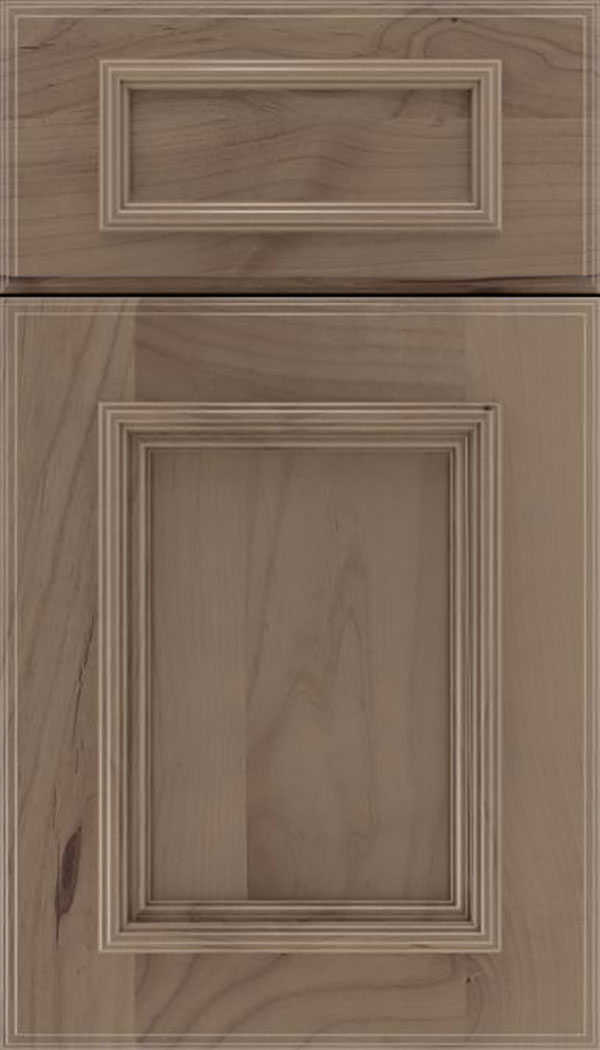 Wellington 5pc Alder flat panel cabinet door in Winter