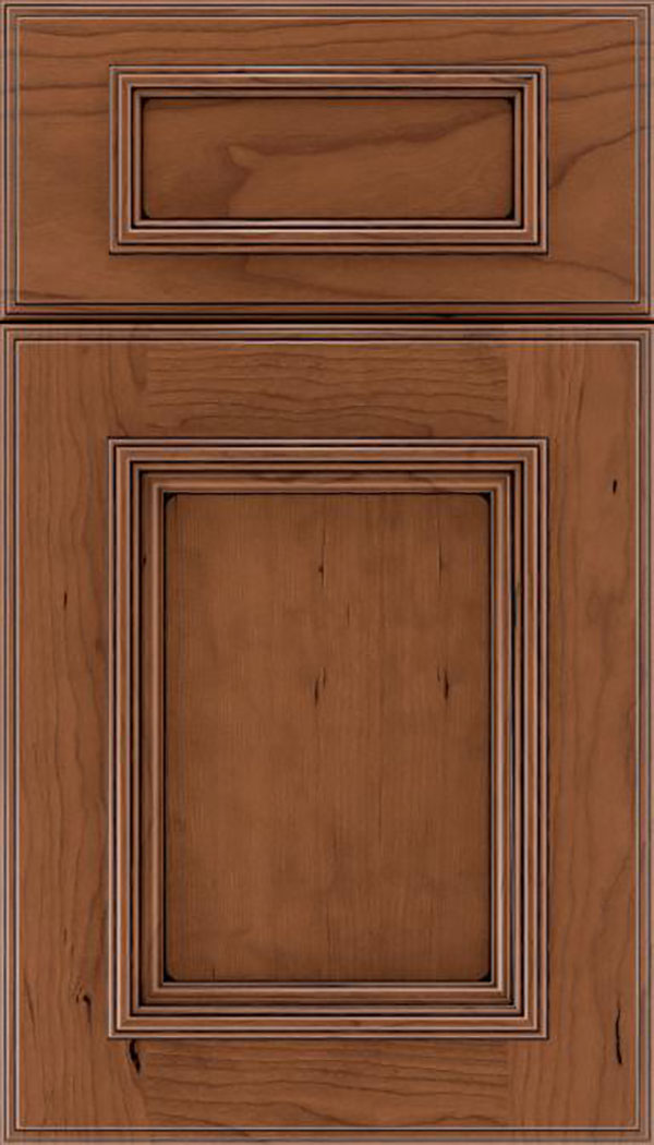 wellington_5pc_cherry_flat_panel_cabinet_door_nutmeg_black