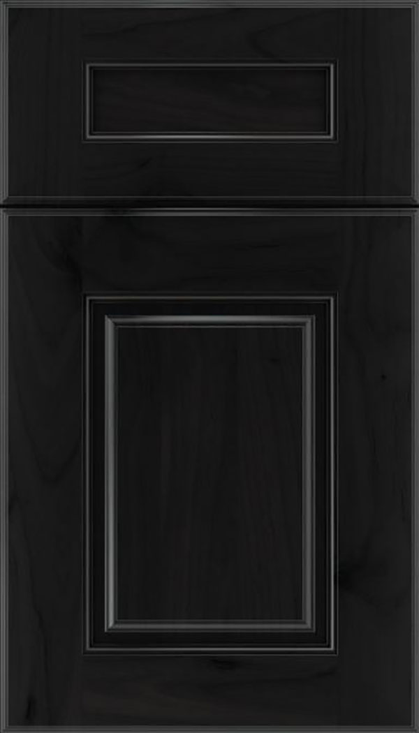 Whittington 5pc Alder raised panel cabinet door in Charcoal