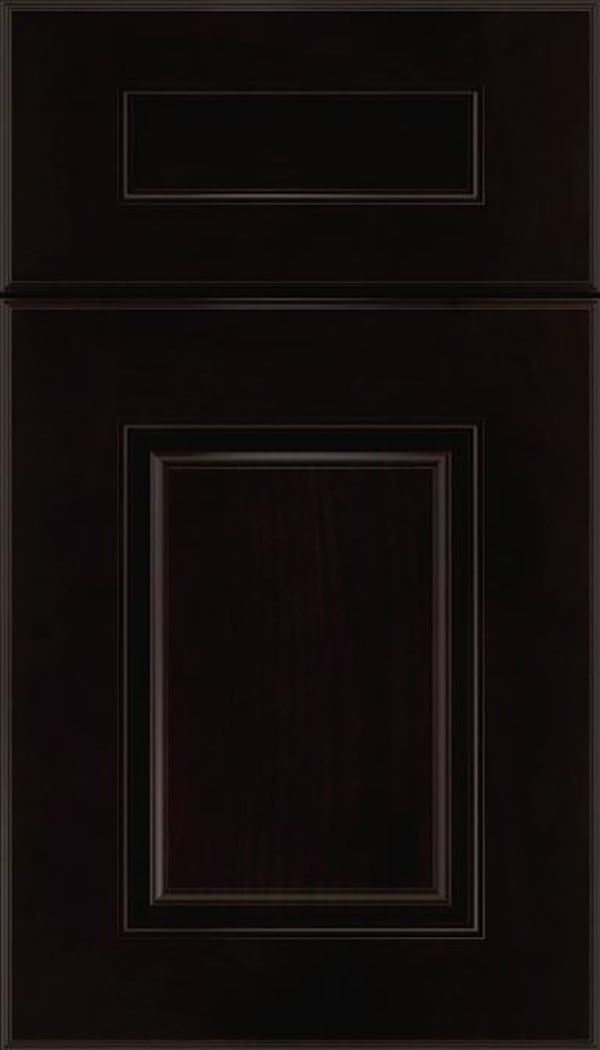 Whittington 5pc Alder raised panel cabinet door in Espresso