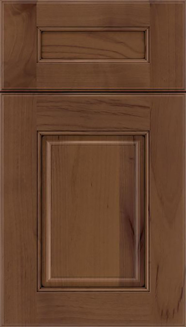 Whittington 5pc Alder raised panel cabinet door in Sienna with Black glaze