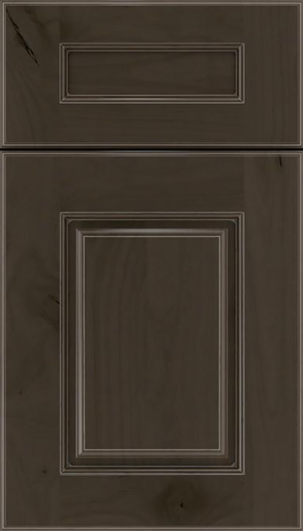 Whittington 5pc Alder raised panel cabinet door in Thunder with Pewter glaze