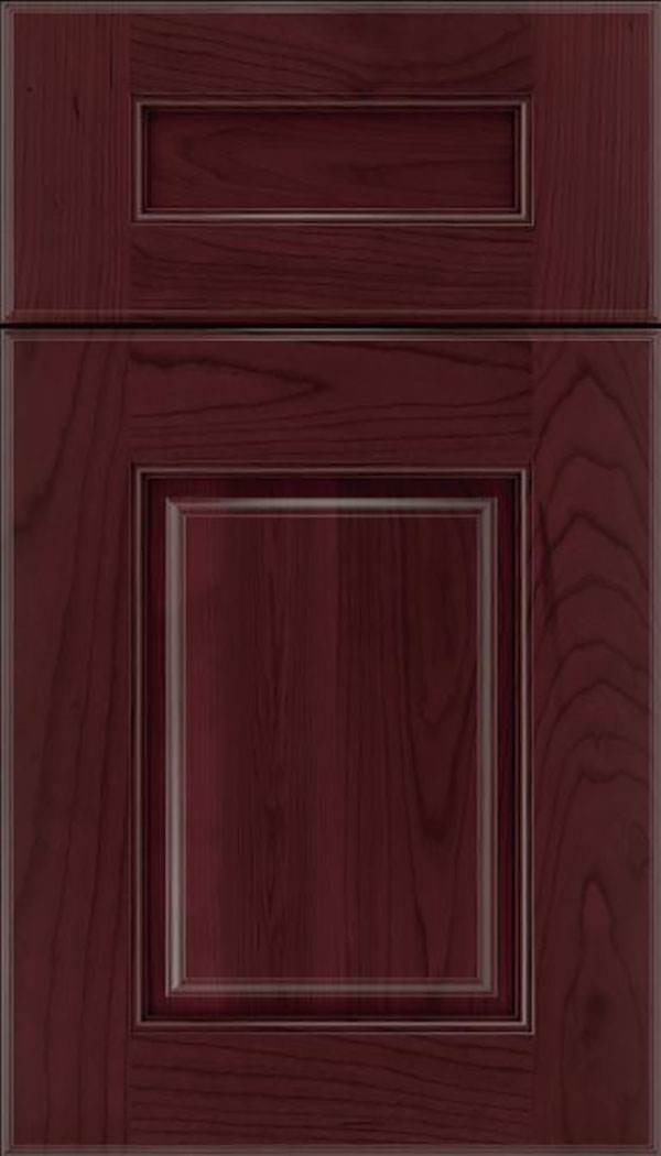 Whittington 5pc Cherry raised panel cabinet door in Bordeaux