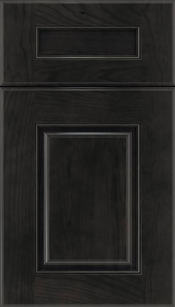 Whittington 5pc Cherry raised panel cabinet door in Charcoal