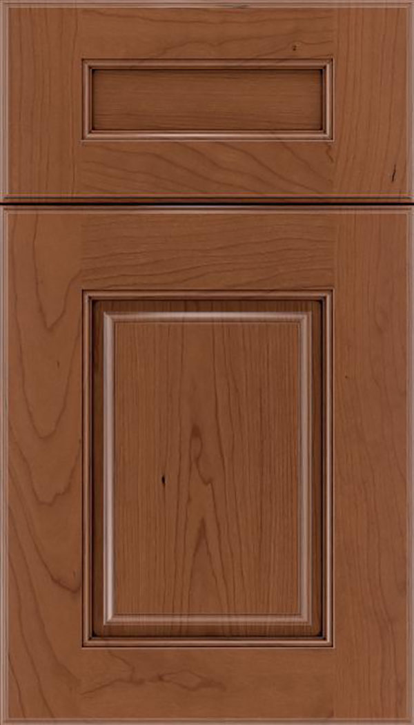 Whittington 5pc Cherry raised panel cabinet door in Nutmeg with Mocha glaze