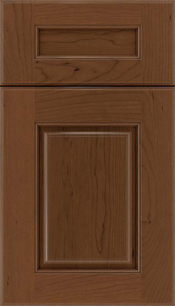 Whittington 5pc Cherry raised panel cabinet door in Sienna with Mocha glaze