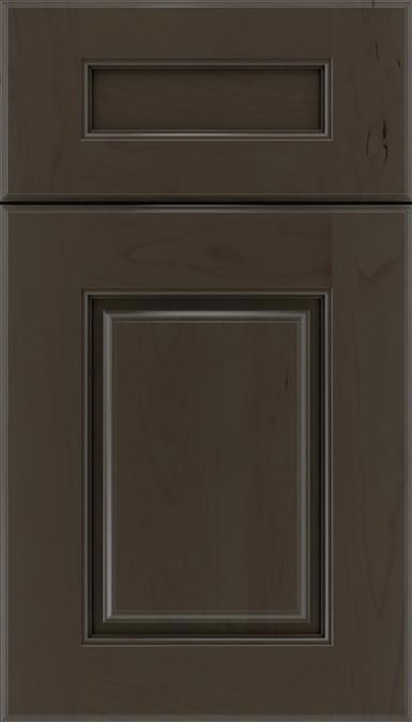 Whittington 5pc Cherry raised panel cabinet door in Thunder