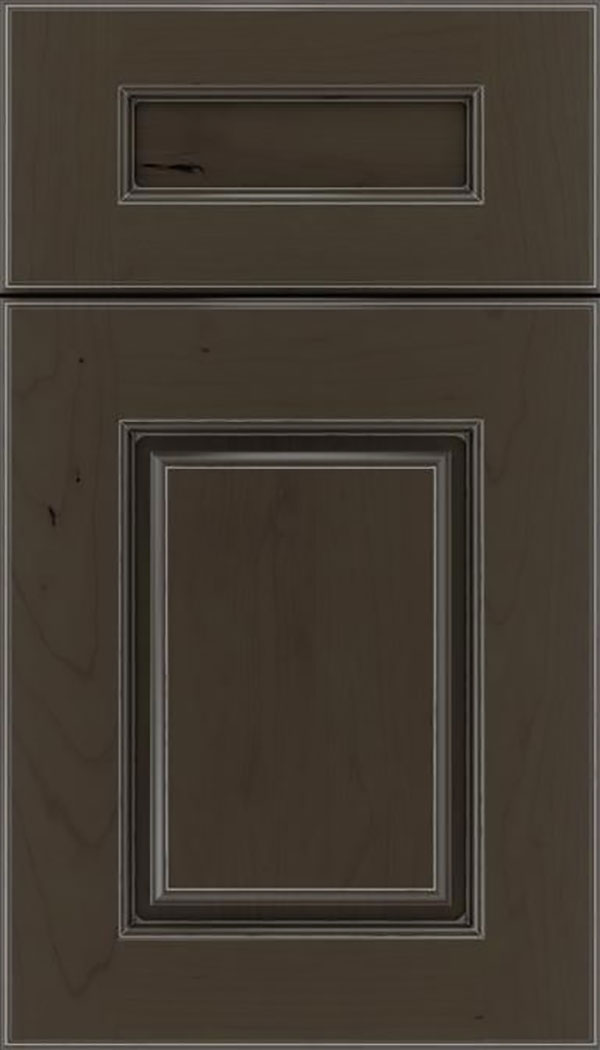 Whittington 5pc Cherry raised panel cabinet door in Thunder with Pewter glaze