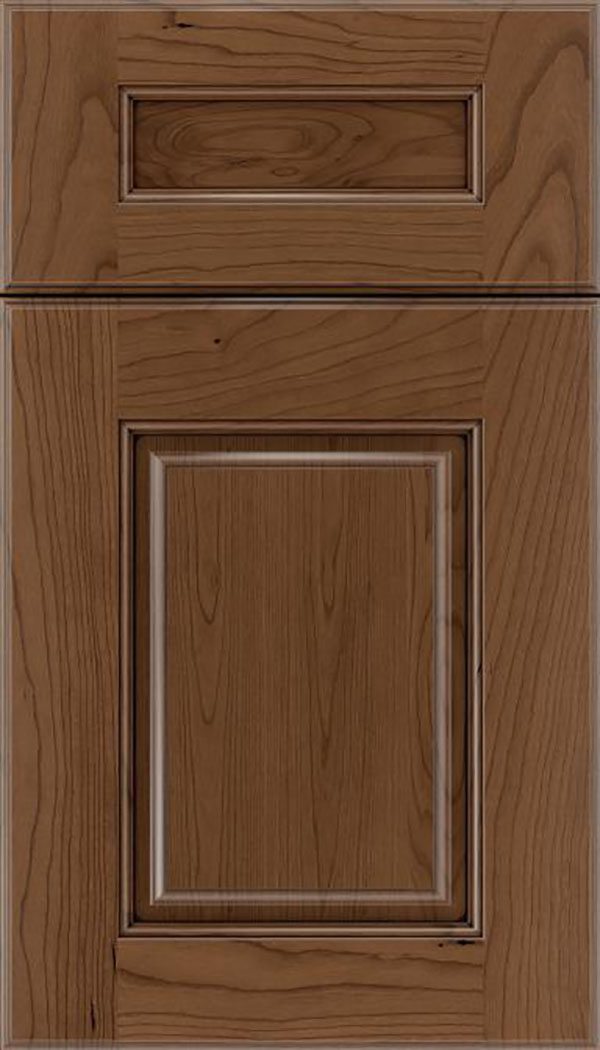 Whittington 5pc Cherry raised panel cabinet door in Toffee with Mocha glaze