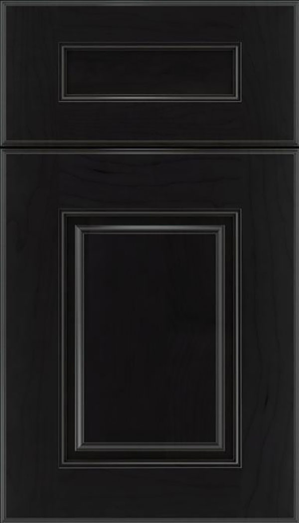 Whittington 5pc Maple raised panel cabinet door in Charcoal