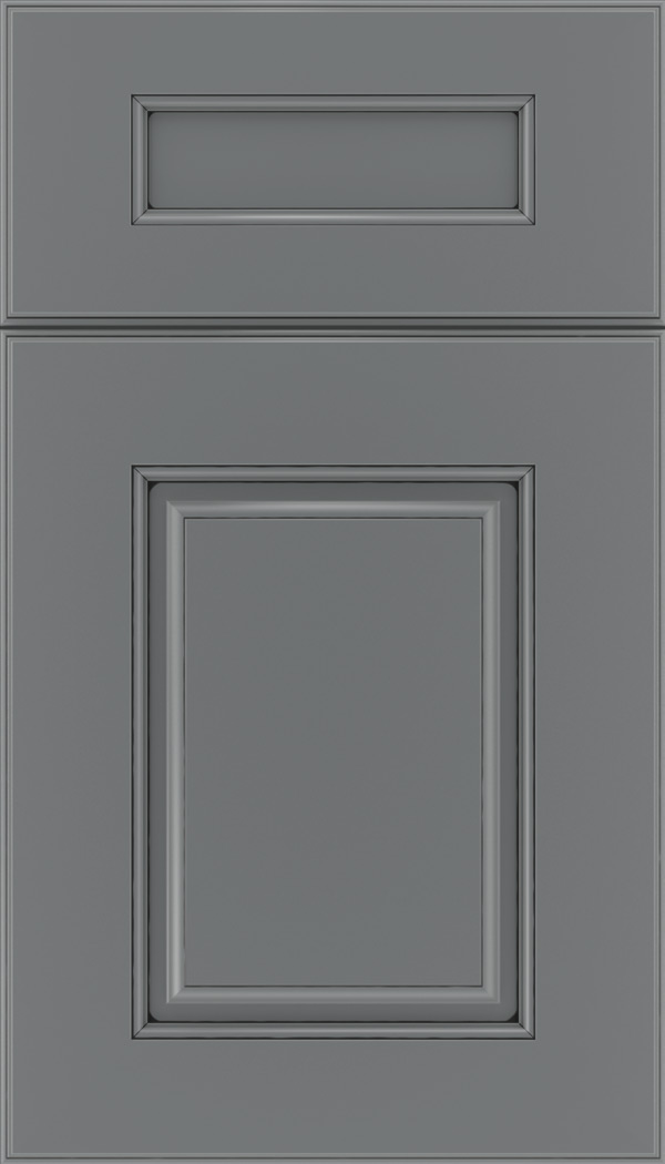 Whittington 5pc Maple raised panel cabinet door in Cloudburst with Black glaze