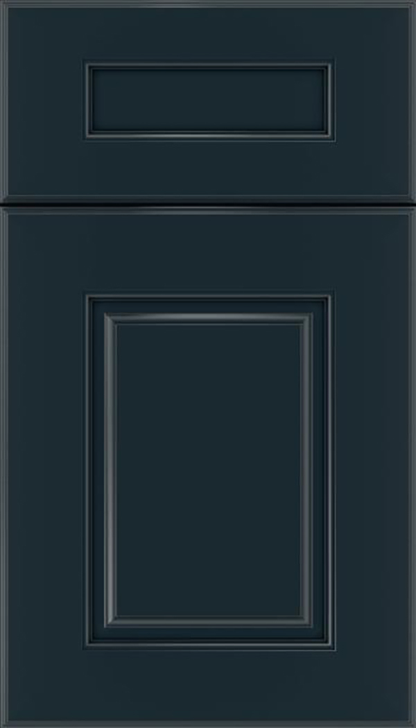 Whittington 5pc Maple raised panel cabinet door in Gunmetal Blue