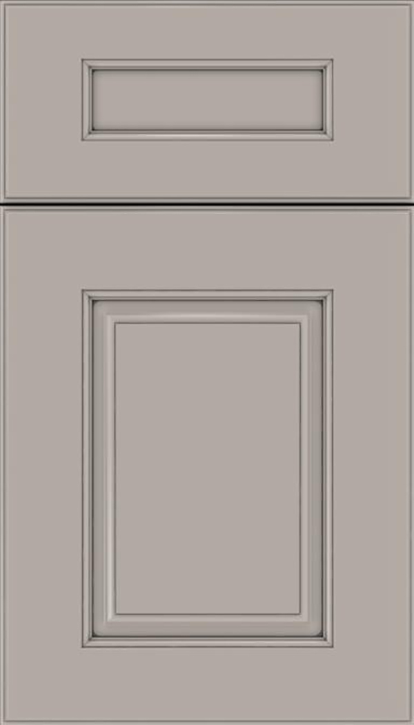 Whittington 5pc Maple raised panel cabinet door in Nimbus with Pewter glaze