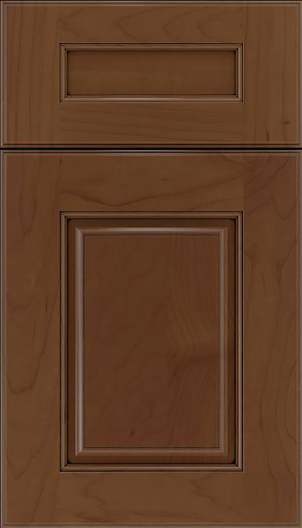 Whittington 5pc Maple raised panel cabinet door in Sienna with Black glaze