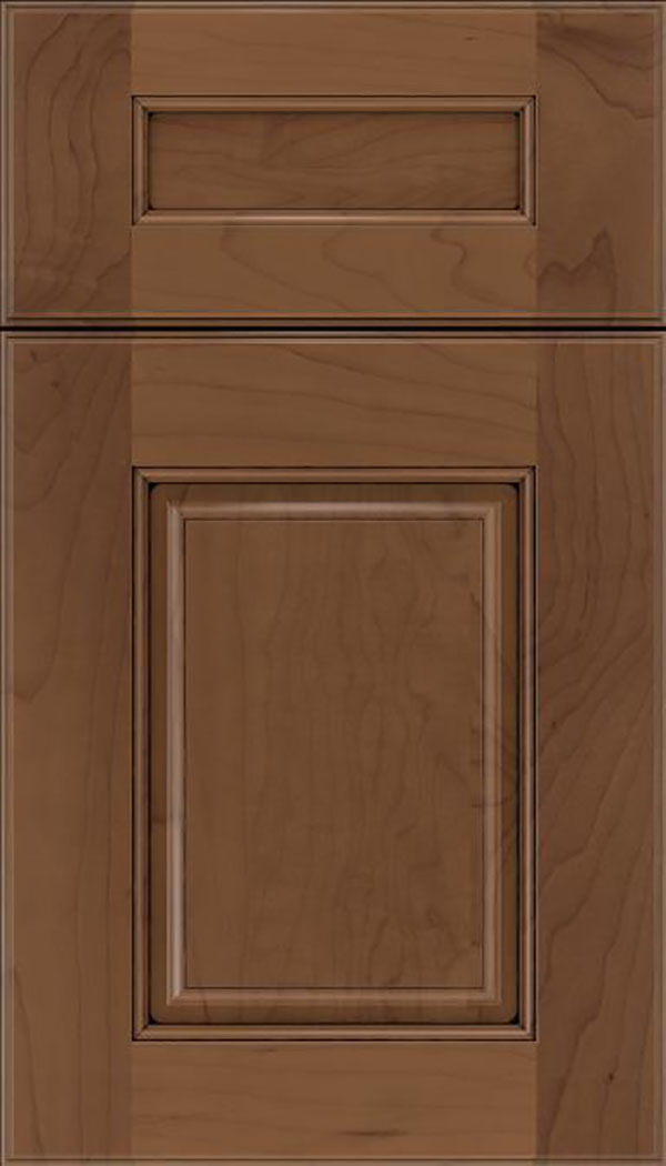 Whittington 5pc Maple raised panel cabinet door in Toffee with Black glaze