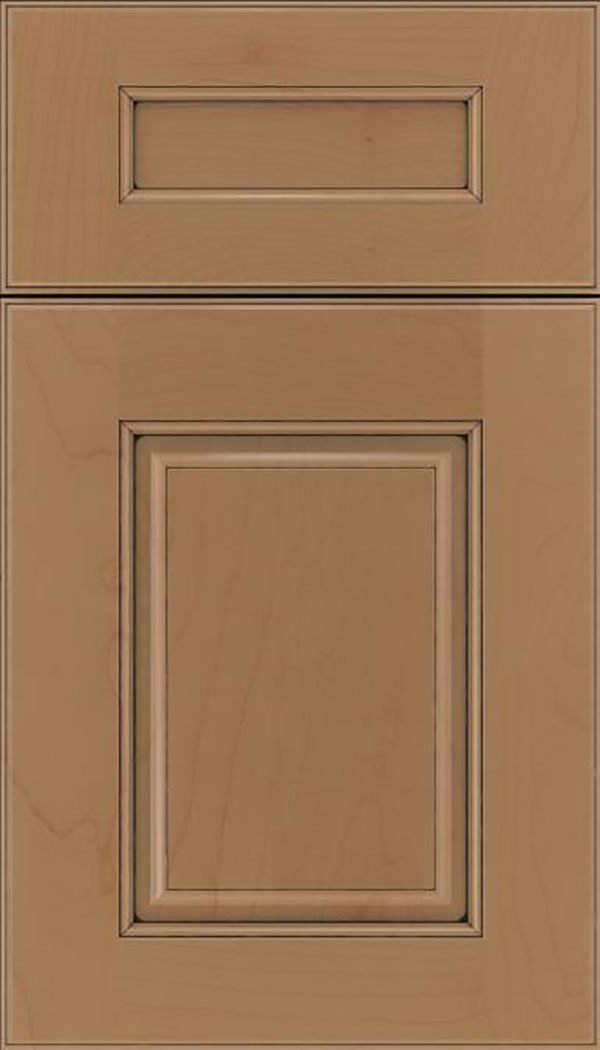Whittington 5pc Maple raised panel cabinet door in Tuscan with Black glaze