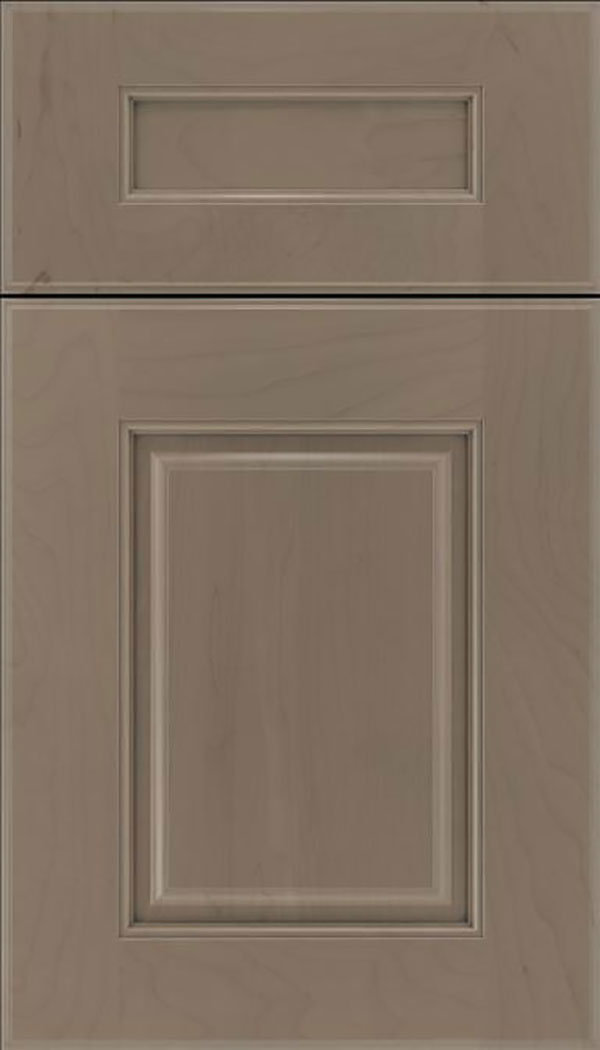 Whittington 5pc Maple raised panel cabinet door in Winter with Pewter glaze