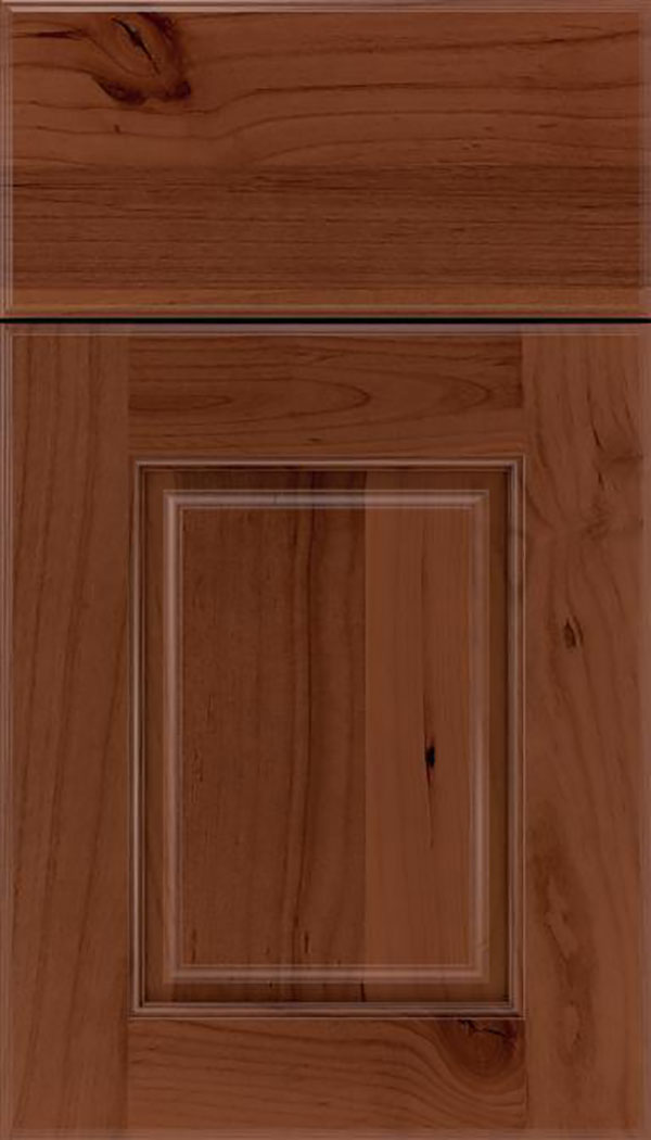 Whittington Alder raised panel cabinet door in Russet