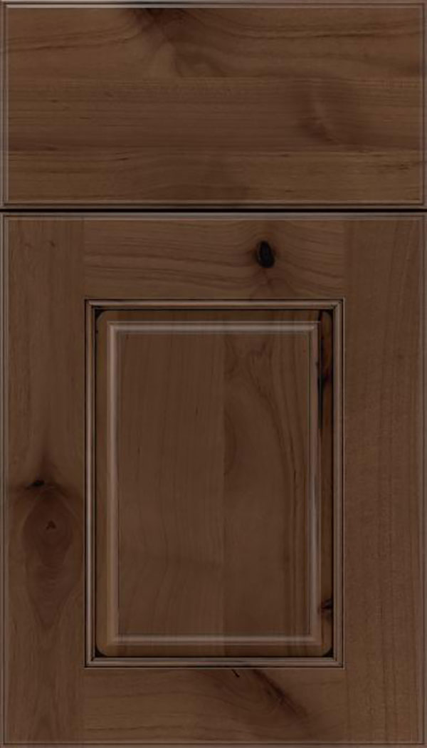 Whittington Alder raised panel cabinet door in Toffee with Black glaze